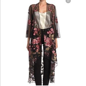 BAND OF GYPSIES Sunset Sheer Embroidered Kimono